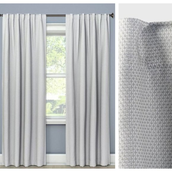 Threshold Other - Threshold Small Gray Check Blackout Curtain Panel